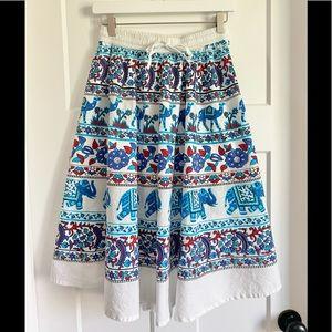 Vintage Boho Elephant & Camel Skirt One Size